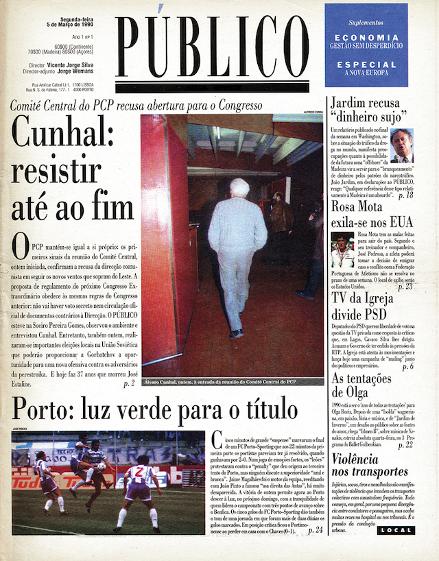 1ª edição PÚBLICO